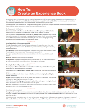 Preview for How To Create Experience Book PDF