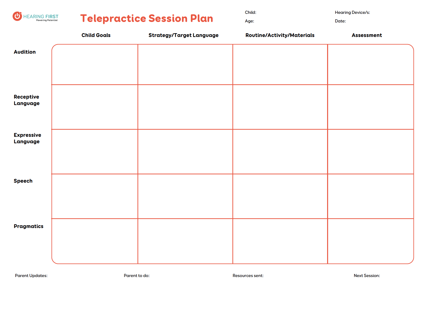 Preview of Telepractice Session Plan PDF