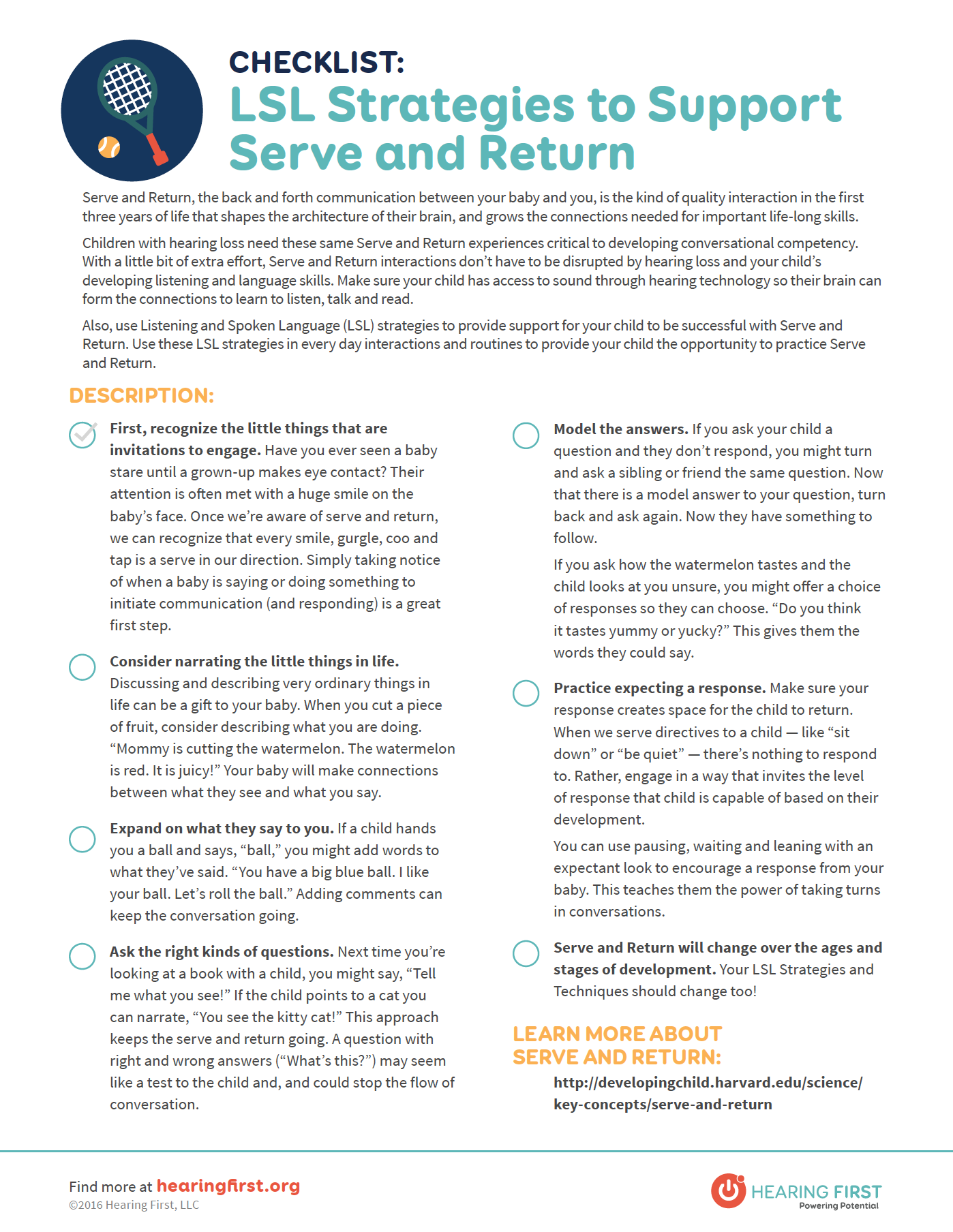 Preview for LSL Strategies to Support Serve & Return PDF